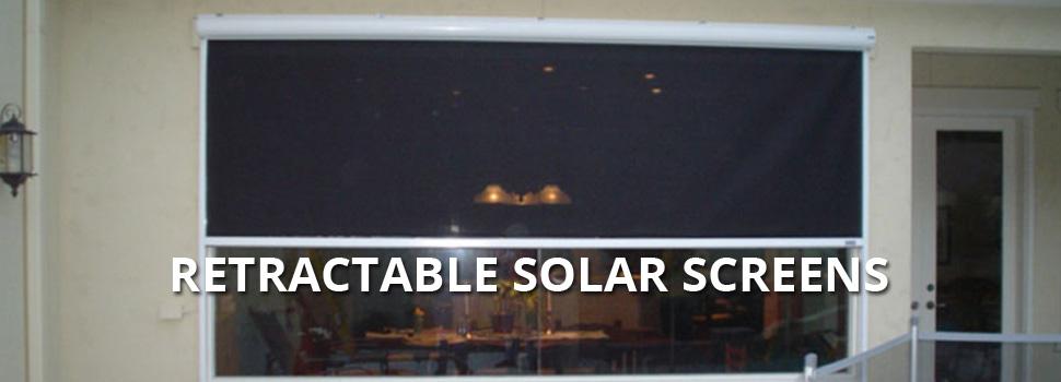 Retractable Solar Screens - Rolltex Shutters