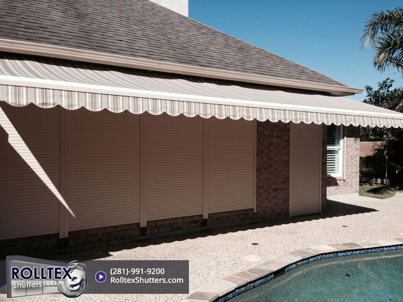 retractable awnings by Rolltex Shutters