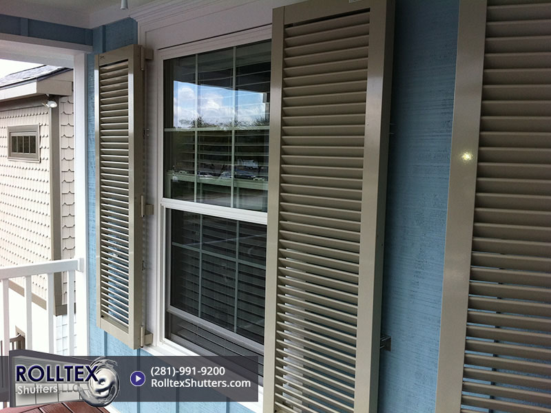 colonial shutters from Rolltex Shutters