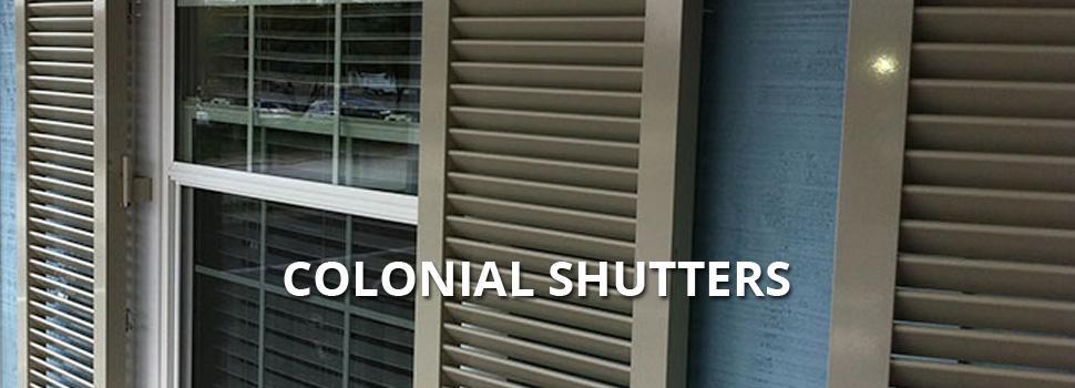Colonial Shutters - Rolltex Shutters