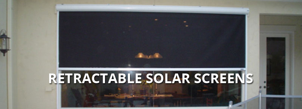 Retractable Solar Screens - Rolltex Shutters
