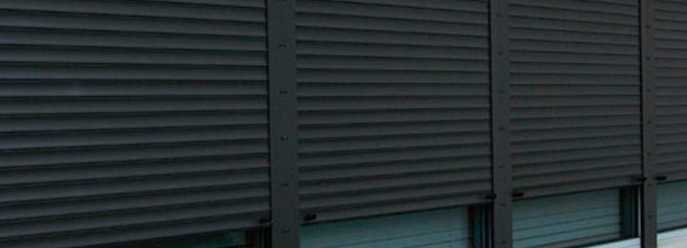 black shutters - Rolltex Shutters
