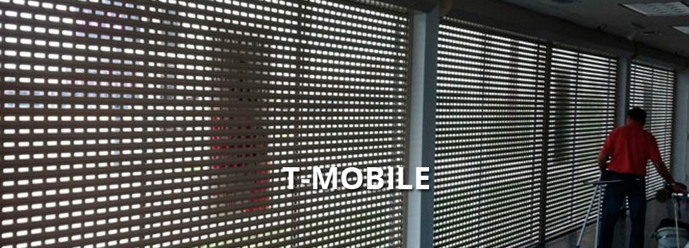 T-Mobile shutter project - Rolltex Shutters